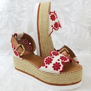 NEW See By Chloe Glyn Floral Embroidered Wedge